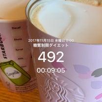492日目(22金曜日)の朝の計量と前日ごはん。朝からケーキ!!の記事に添付されている画像