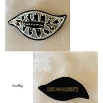 ビーズ刺繍バレッタの記事に添付されている画像