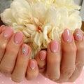 春のピンクネイル