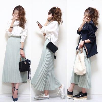 春色プリーツスカートとGUオンライン限定デニムの記事に添付されている画像