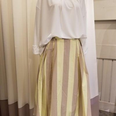 ストライプ柄スカートの記事に添付されている画像