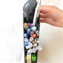 【セリア】デスクのペン収納に♪スリムで場所を取らない、タワーペンスタンドを購入。の記事に添付されている画像