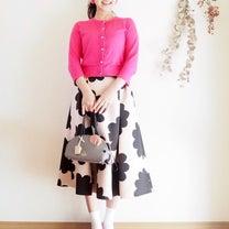 靴下でコーデが新鮮に♪今日のコーデ♡~ケイトスペード ピンクカーディガン×ロングの記事に添付されている画像