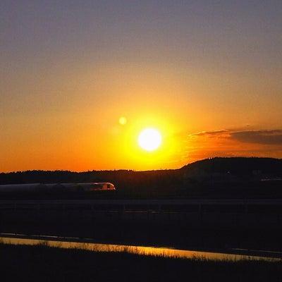 今日の、夕陽シリーズです~っ♪v(*'-^*)^☆の記事に添付されている画像