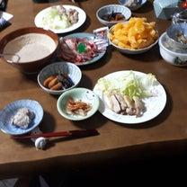 ☺3月24日晩ごはん☺   メイン.山の山芋.鯨のベーコン 美味しかった    の記事に添付されている画像