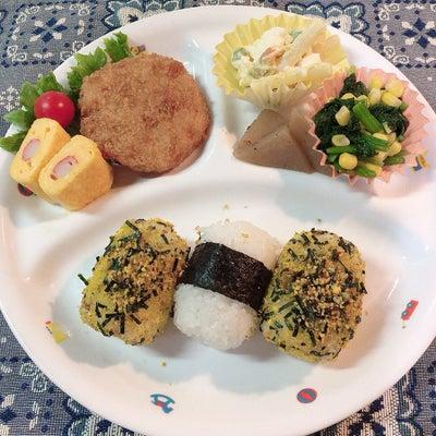 あきちゃんちの ラララ♪お弁当♪三男ランチプレート  のりたまおにぎり弁当編の記事に添付されている画像