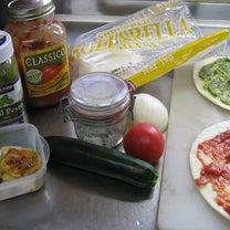 コストコのトマトソースとバジルペーストでピザ。の記事に添付されている画像