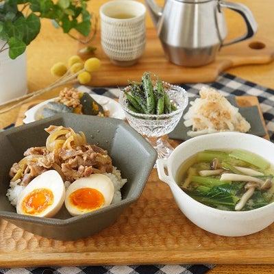 牛丼と常備菜でお昼ごはんの記事に添付されている画像