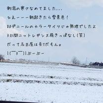 新潟は寒かったの記事に添付されている画像