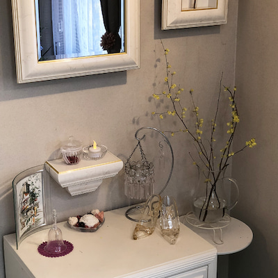 インテリア壁掛け仏壇と季節のお花:アブラチャン(油瀝青)の記事に添付されている画像