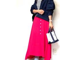 しまむらの上品見えマウンテンパーカ×カラーロングスカート×NIKEスニーカーでプの記事に添付されている画像