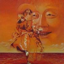 油彩画 能楽 「猩々」F30号の記事に添付されている画像