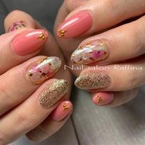 ピンク×シェル埋め込み★亀山市川崎町ネイルサロンラフィーナの記事に添付されている画像