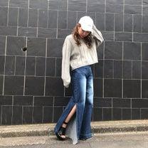 ワイドリブ編みでスマート魅せ♡HITOMIの記事に添付されている画像