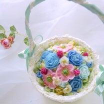食べられるフラワーアレンジメント♡バスケットフラワーケーキの記事に添付されている画像
