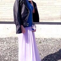 ラベンダー色プチプラコーデの記事に添付されている画像