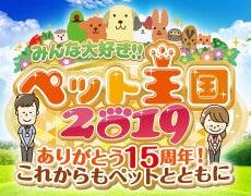 みんな大好き!!ペット王国2019 ロゴ