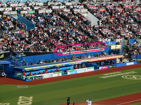 ZOZOマリンスタジアム グランドシーサイド・シート 遠景2