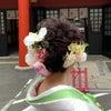結婚式出張ヘアメイクBlog/ミディアムヘア白無垢洋髪の花嫁の画像