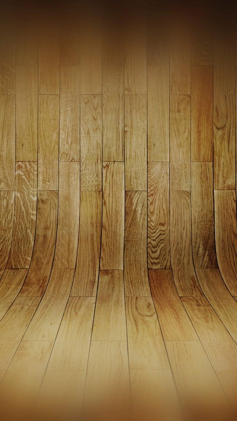 湾曲した木の床パターン