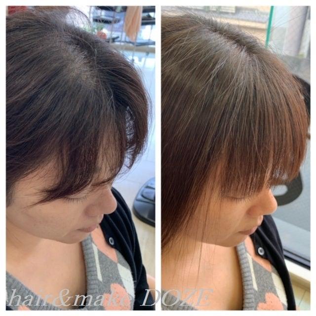前髪の自然な収まりは髪質再正!