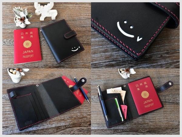 革製パスポートケース
