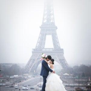 パリで冬のブライダルフォト エッフェル塔・凱旋門・ルーブル!の画像