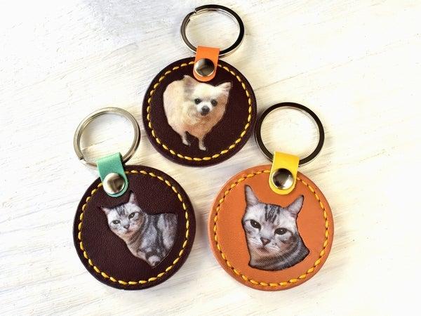 犬や猫のキーリング