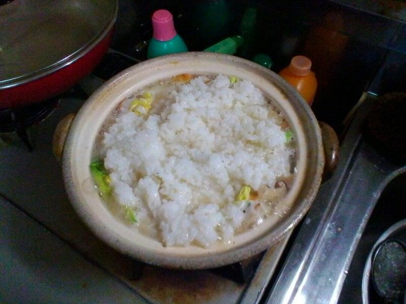 雑炊 ご飯 洗う