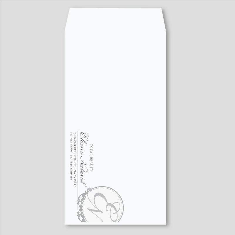 高級感のあるVIPなサロン封筒デザイン