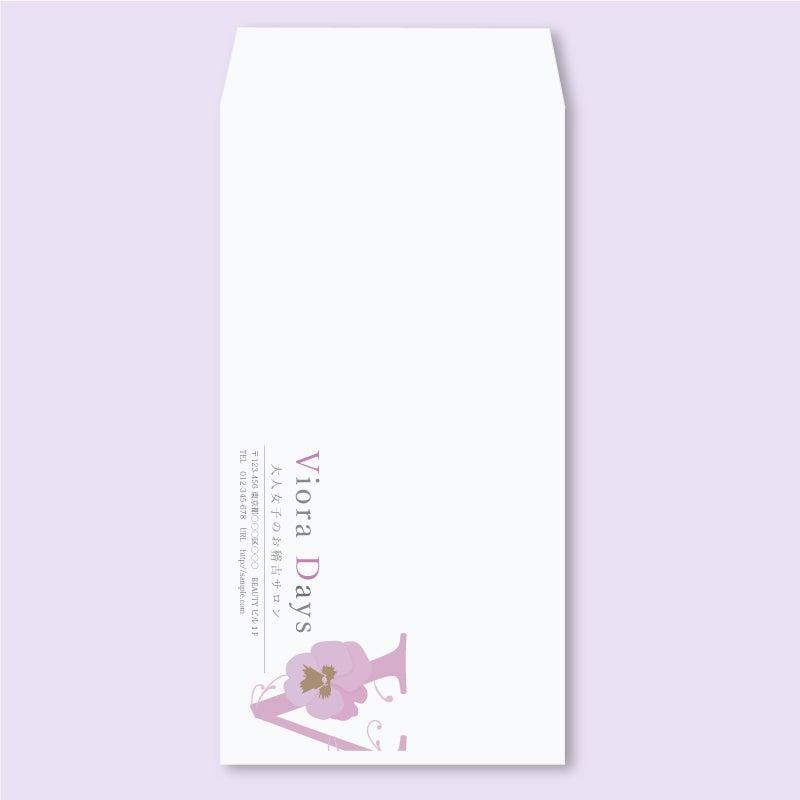 女性の可愛いきれいな封筒デザイン印刷