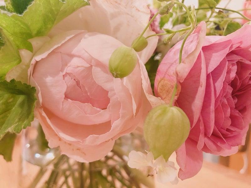 アロマ 花の香り バラの花束 お稽古