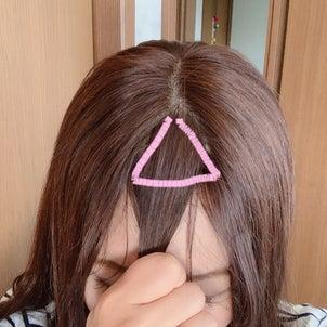 前髪の切り方の画像