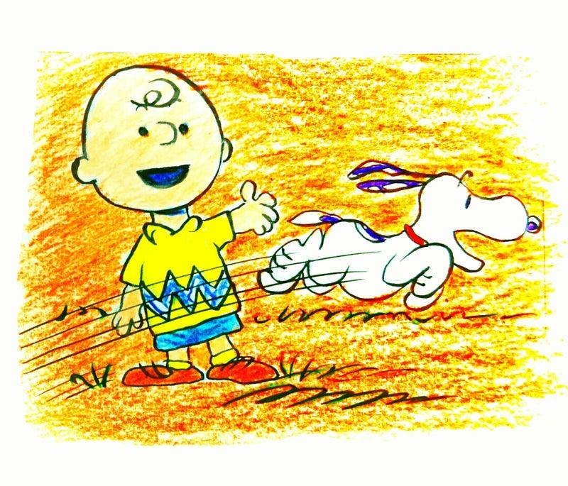 癒しのスヌーピーイラスト その366野球少年チャーリーブラウンと