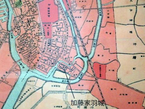 加藤家羽城の地図