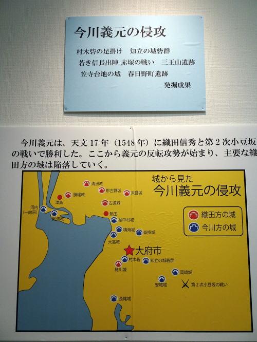 織田と今川の城分布図