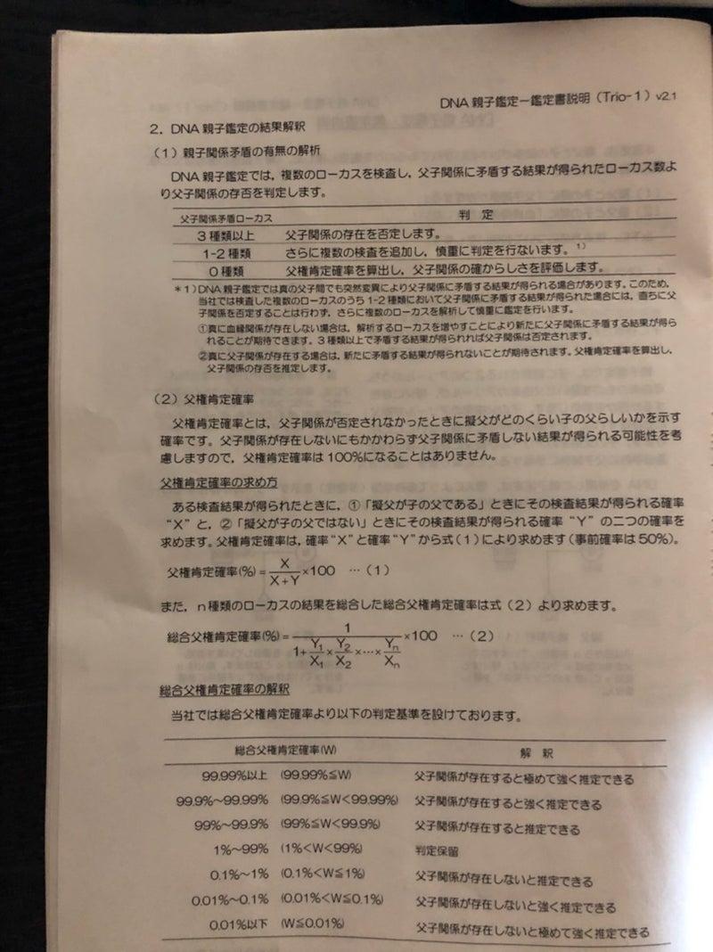 DNA鑑定書内容   結婚くじ〜ハズレ引いちゃいました〜