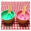セリアでアイスクリームカップ♡