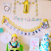 1歳のお誕生記念のクレイケーキの画像