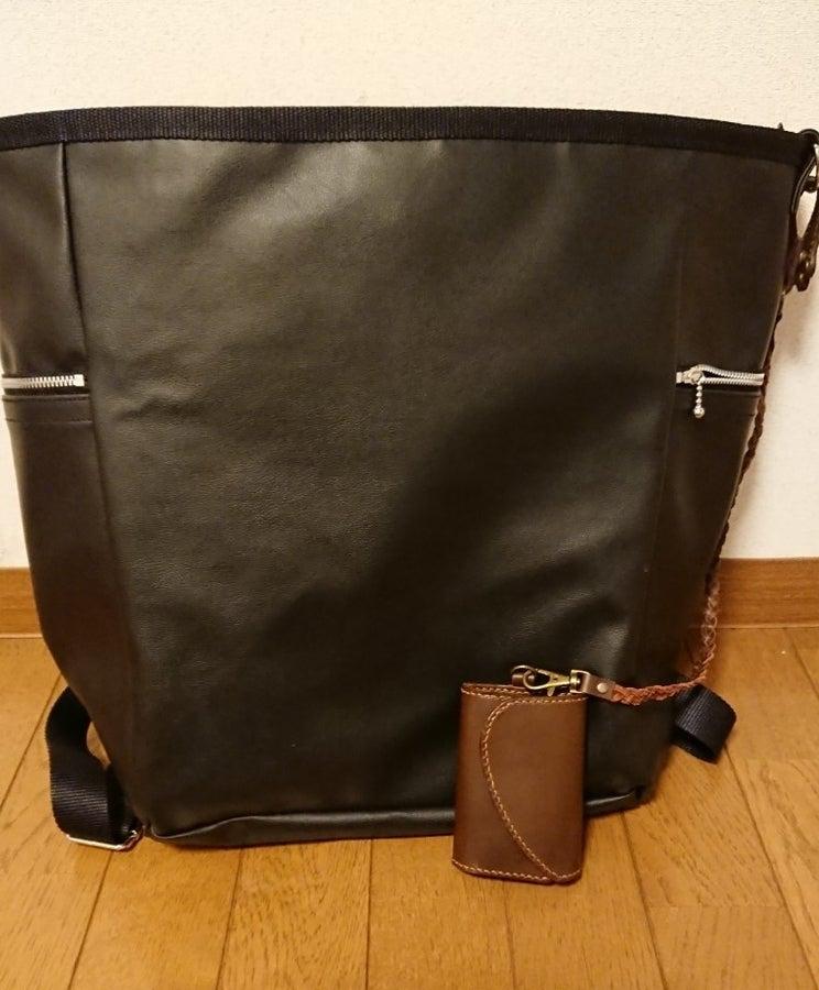 リュック型バッグとキー&パスケース
