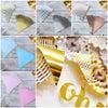 ペーパーフラッグガーランド ペーパーペナントバナー ガーランド 三角 フラッグ 飾り 壁 結婚式の画像