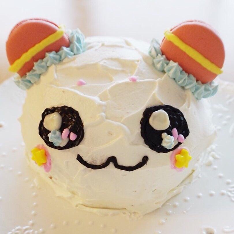 娘6歳の誕生日に作ったドームケーキは、トゥインクルプリキュアのフワでしたが