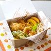 セリアの捨て弁de鶏天丼弁当。