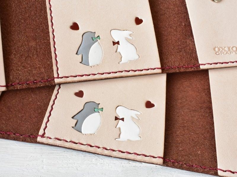 子ペンギンと白ウサギ
