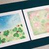 今日は「色と季節の絵パステルアート」新緑の季節の画像
