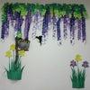 季節の壁画作製~ツバメと藤棚~の画像