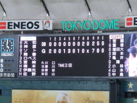 東京ドーム 4/28 結果