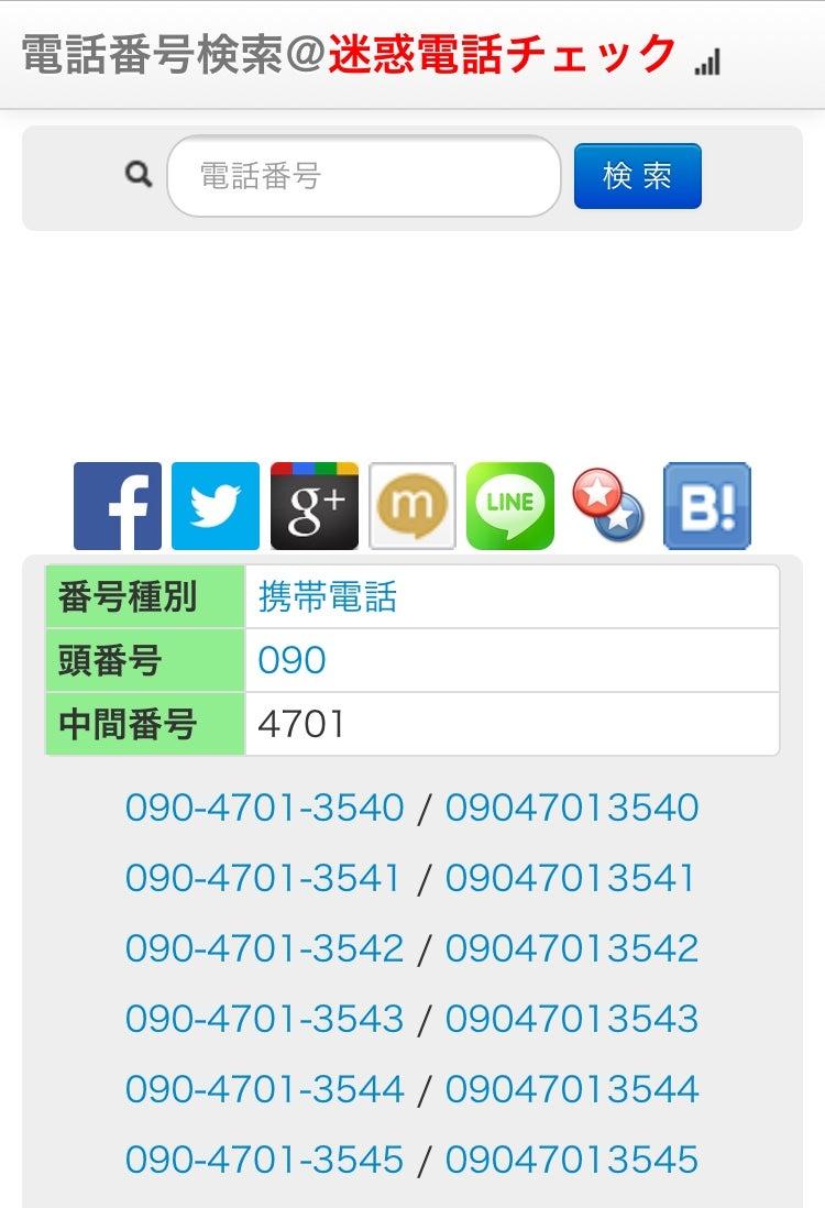 迷惑電話番号 090