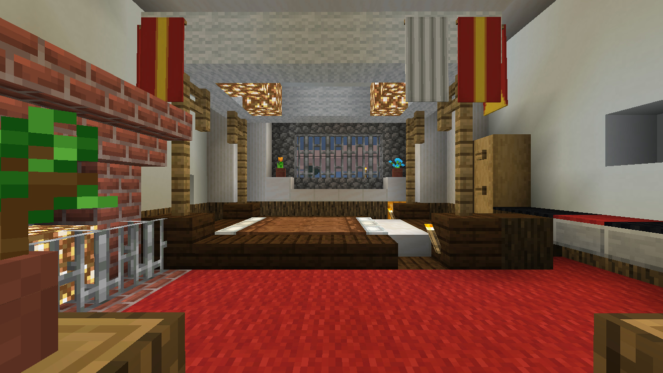マイクラPEでお城 その10(内装4階 寝室) | マイクラPE