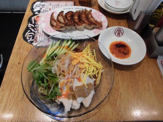 炎の棒々鶏冷麺と本格焼餃子